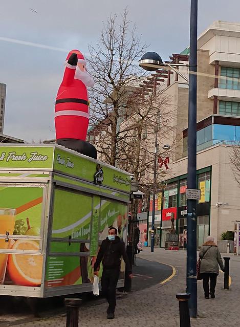 Falafel Santa at the Bullring Open Market