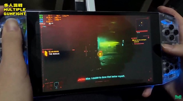 Cyberpunk 2077 sur Aya Neo