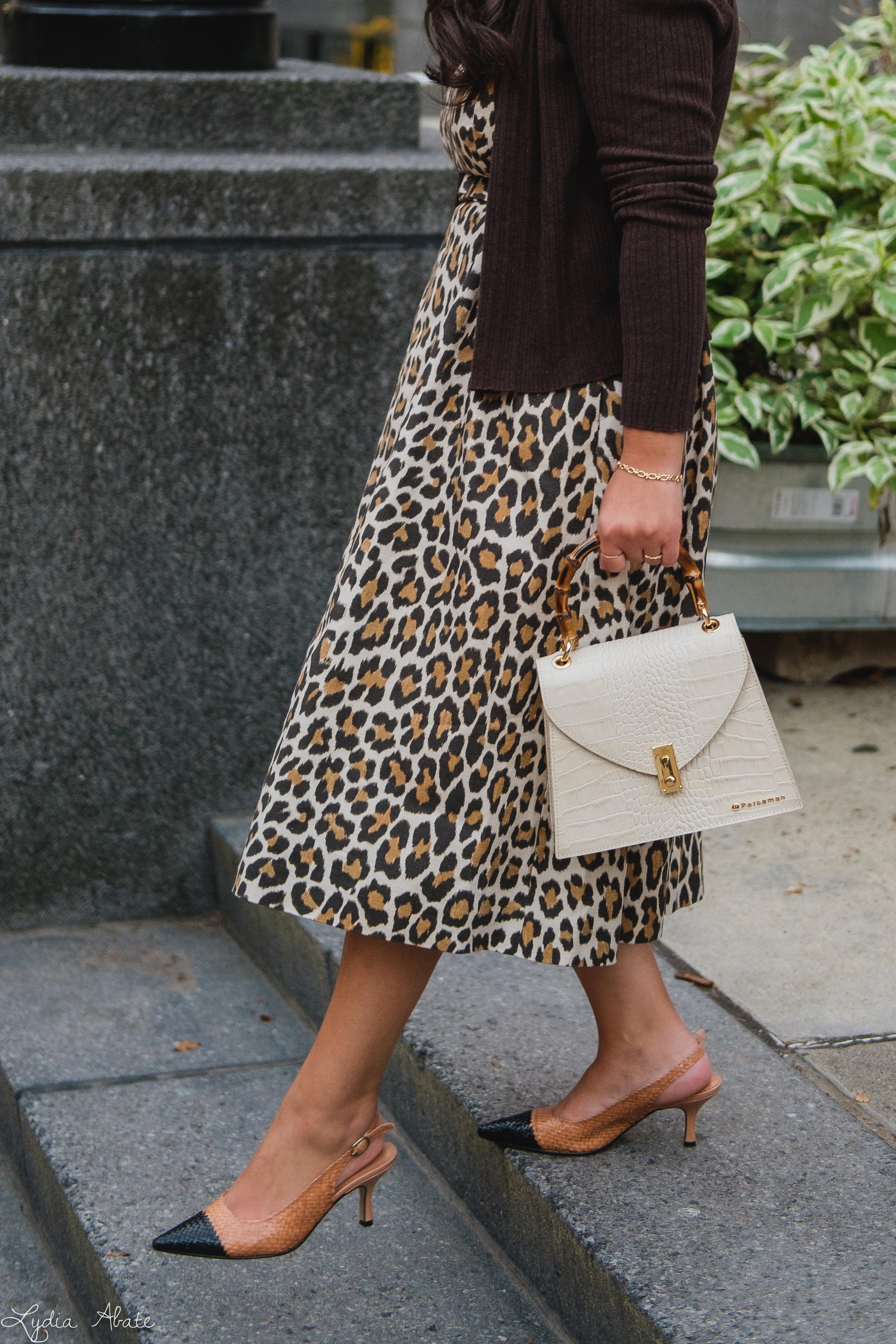 leopard dress, brown ribbed cardigan, woven toe cap slingbacks, cream croc purse-6.jpg