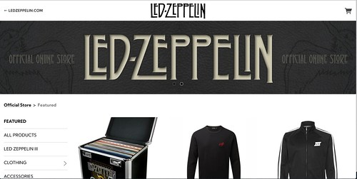 Hollyhead's Typeface on the Led Zeppelin website