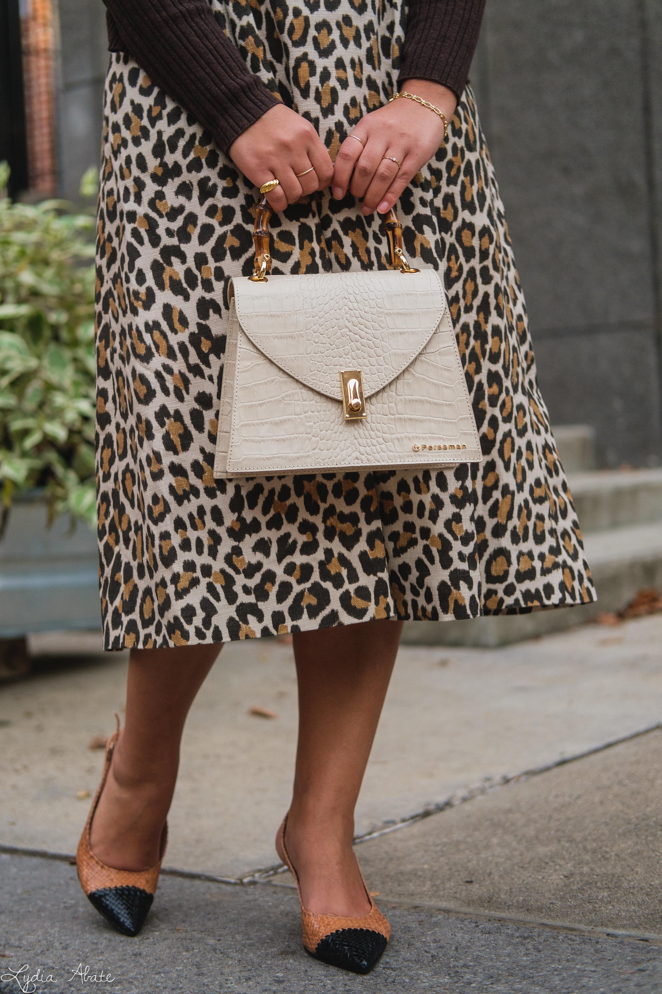 leopard dress, brown ribbed cardigan, woven toe cap slingbacks, cream croc purse-10.jpg