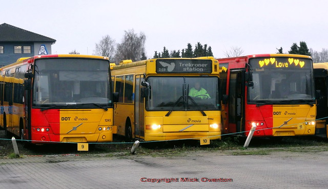 These 3 buses were 1st choice to drive 39.5km to the scrapyard today but 1245 failed to advance beyond 1st gear so 5603 & 1248 were joined by 1243