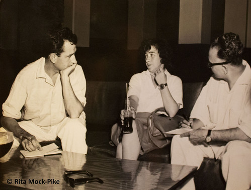 Jerrie being interviewed at the Bowling Center, Wake Island. From Move Over Amelia, That's My Grandma's Place in History – Celebrating the First Woman to Fly Around the World