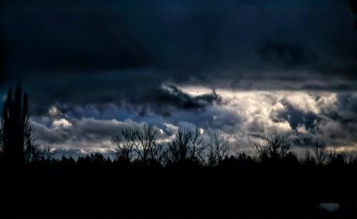 nature outdoor landscape sky cloud trees dramaticsky