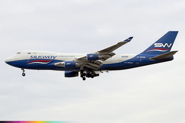 4K-SW888  -  Boeing 747-4R7(F)  -  Silkway West Airways  -  LHR/EGLL 9-12-20
