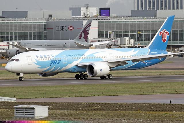 B-209E  -  Boeing 787-9 Dreamliner  -  China Southern  -  LHR/EGLL 9-12-20