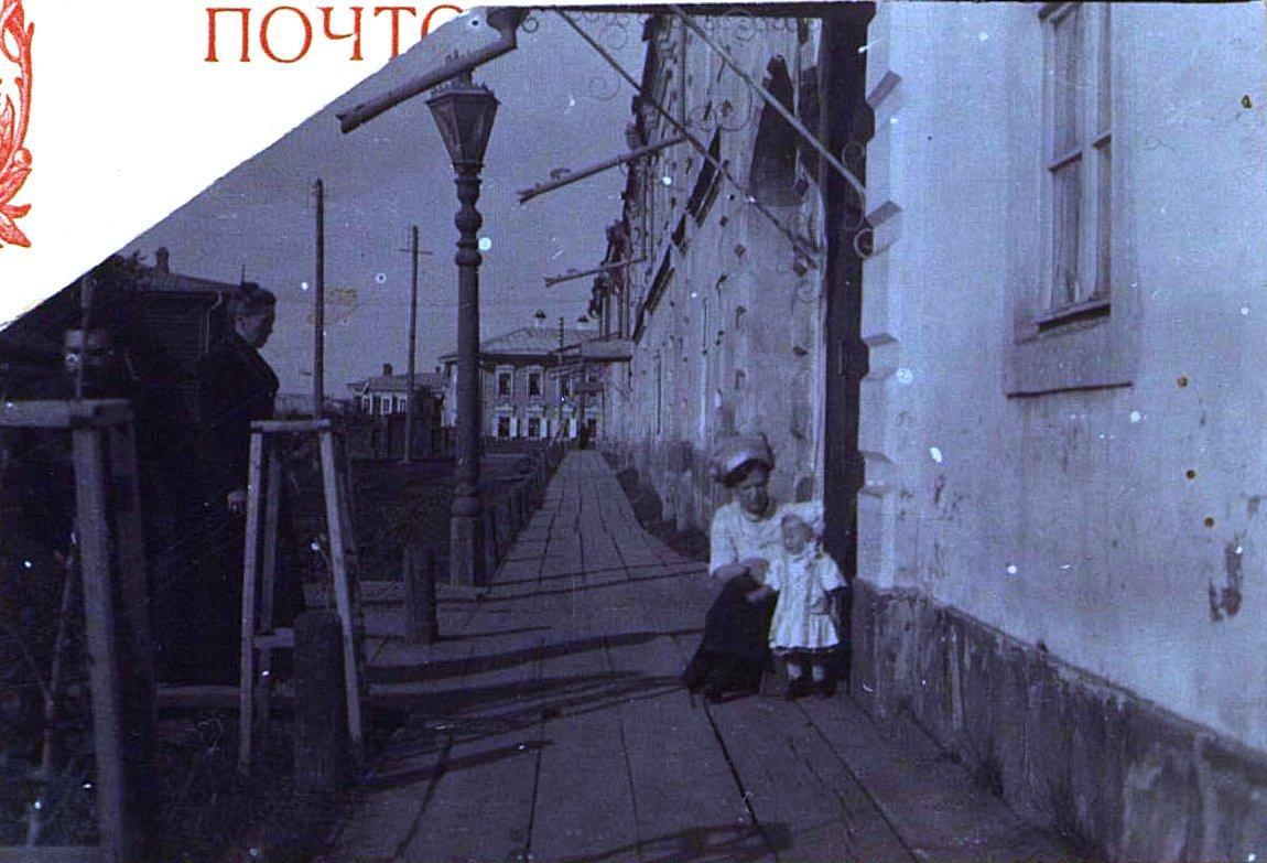 Вид на квартал в Иркутске с домами, принадлежавшими Колыгиным