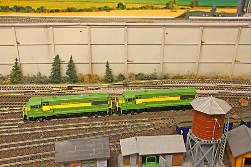 modelrailroad hoscale 187scale 35mmto1foot trainlayout backboards paintedscenes westpascomodelrailroadassociation pascocounty florida fl unitedstates usa us america watertower retainingwall speeder sheds greenspeeder greenrailcar narcoaspeeder nationalassociationofrailcarowners canondigitalcamera canon40d canoneos40d slr singlelensreflexcamera dslr digitalsinglelensreflexcamera digitalcamera railroadyard rrtrack railroadtracks 4051madisonstste9newportricheyfl34652 stateroad54madisonave stateroad54 sr54 madisonstreet nearintersectionsr54madisonst clerestorycoachusstock model
