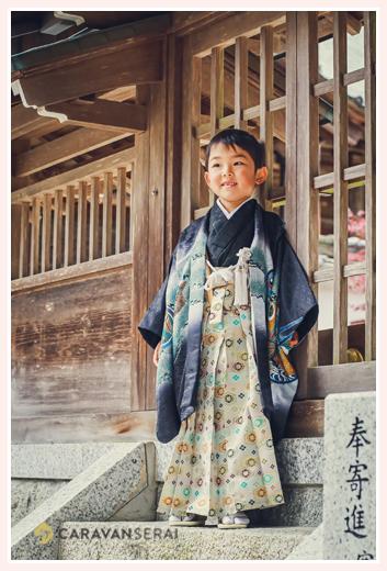 5歳の男の子の七五三 愛知県豊田市の猿投神社