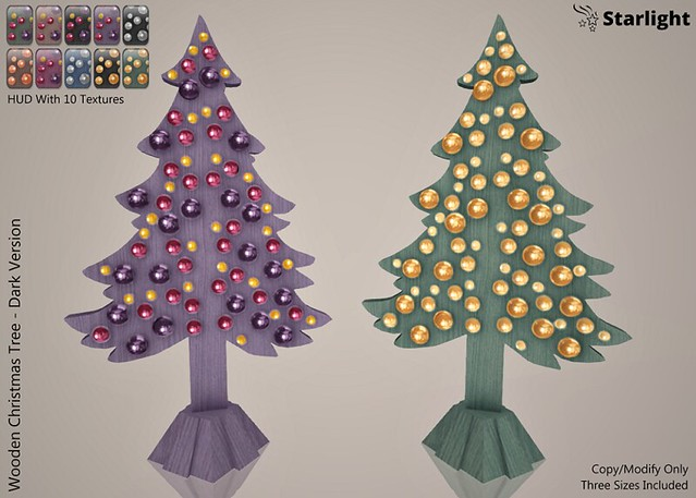:: SA :: Wooden Christmas Tree with HUD : Dark Version