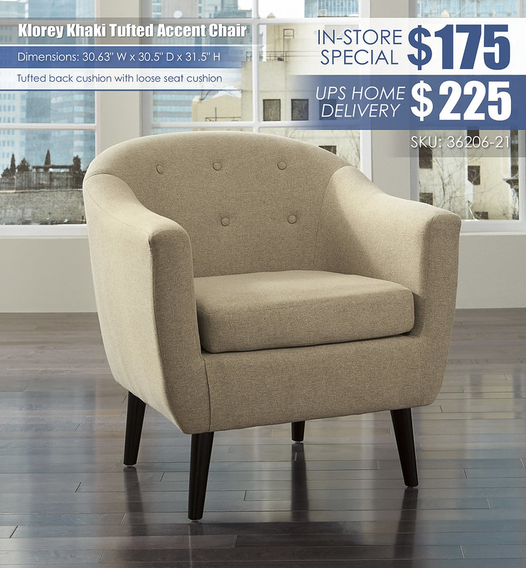 Klorey Khaki Accent Chair_36206-21_wDeliveryOption