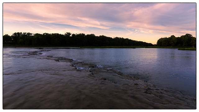 Evening  Light  at  Weirs  Rapids