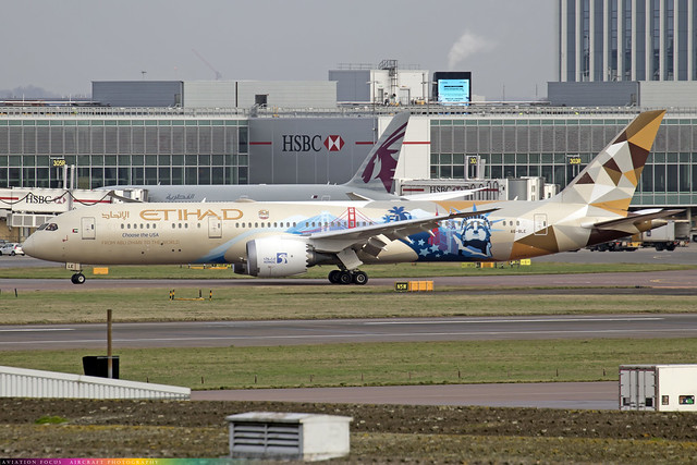 A6-BLE  -  Boeing 787-9 Dreamliner  -  Etihad (Choose USA Livery)  -  9-12-20