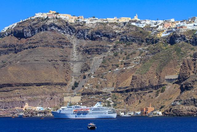 Armchair Traveling - Arriving in Santorini