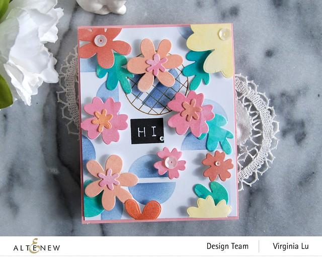 Altenew-Mega Label Love-Simple Nesting Flowers Layering Die-Modern Circles Stencil-Friendly Circle Stamp Set-003