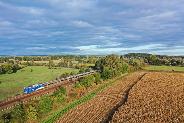 EVB 140 870 + goederentrein/Güterzug/freight train   - Golm