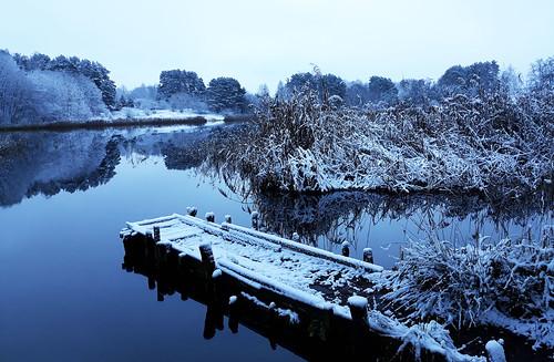 winter lake landscape snow lietuva lithuania