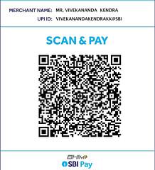 UPI QR code for Camps at Kanyakumari
