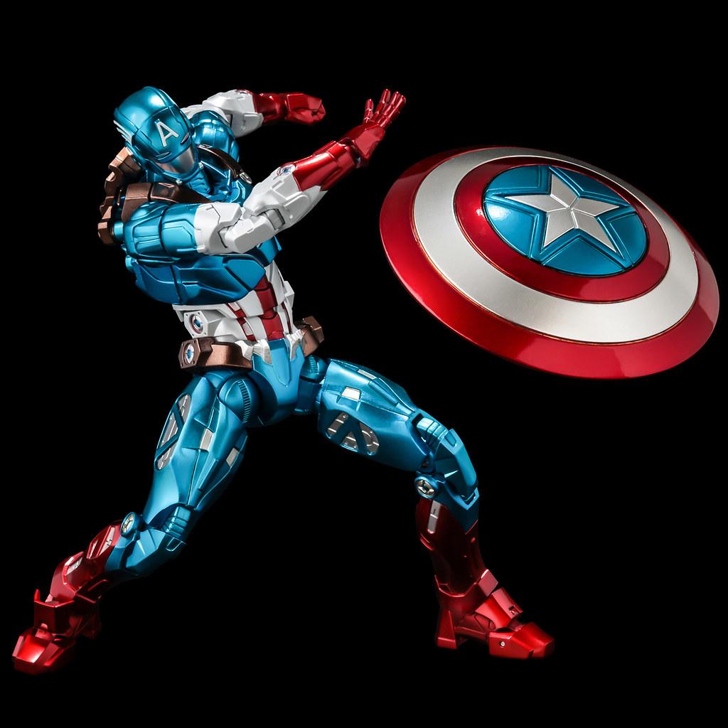 千值練 Fighting Armor 第三彈「美國隊長」可動人偶 嶄新的戰鬥裝甲風格!