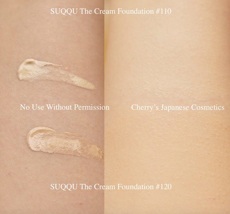 Suqqu The cream foundation swatch