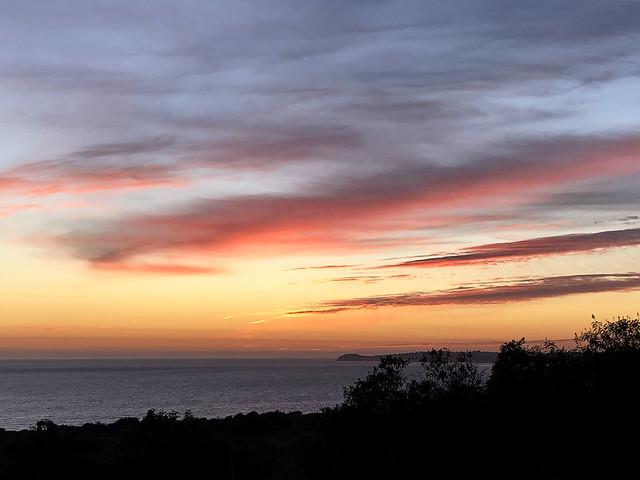 sunset from bluffs park