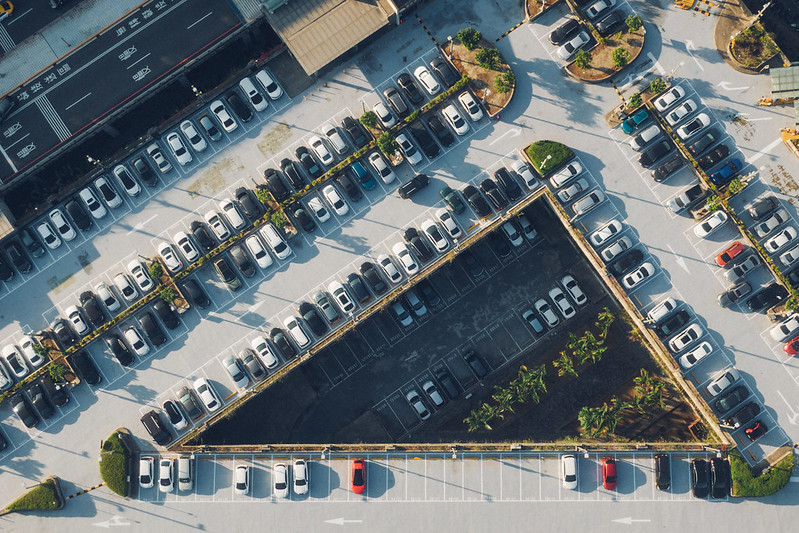Parking lot aerial view Taiwan