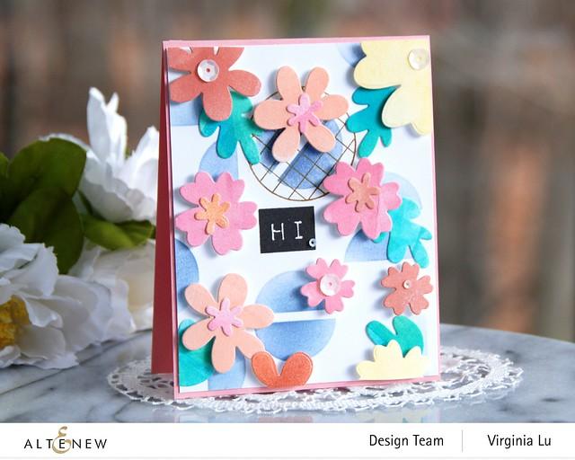 Altenew-Mega Label Love-Simple Nesting Flowers Layering Die-Modern Circles Stencil-Friendly Circle Stamp Set-001