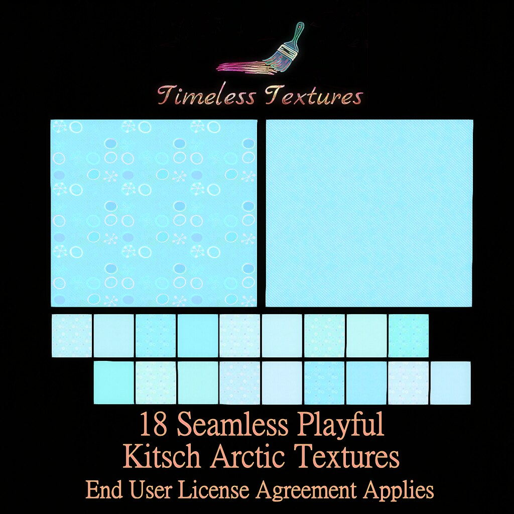 2020 Advent Gift Dec 10th – 18 Seamless Playful Kitsch Arctic Timeless Textures ++