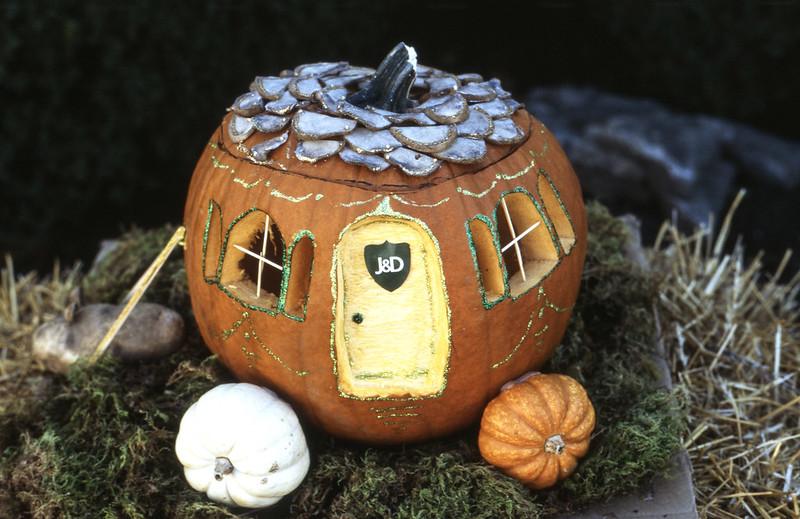 Real Estate Agency Pumpkin Display