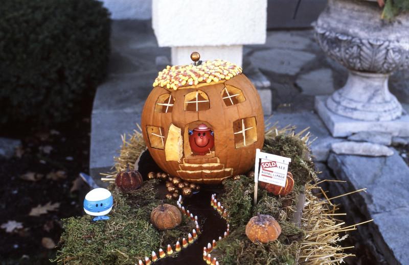 Second Real Estate Agency Pumpkin Display