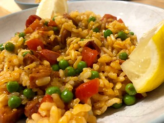 Baked Spanish risotto