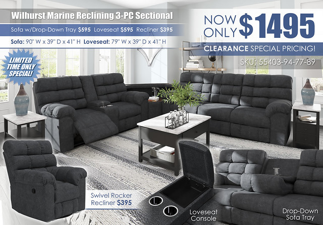 Wilhurst Reclining 3-PC Sectional_55403-94-OPEN-77-89-DDT-UP-CLSD-T341