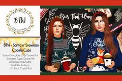 BTW - Santa n'Snowman Cookie Cups