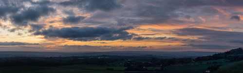 thurnham birds d7100 sunset autumn mist tamronsp70300f456vcusd clouds maidstone panorama kent hill northdowns england