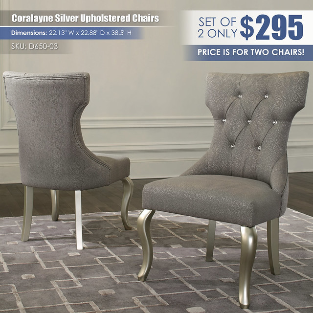 Coralayne Silver Upholstered Chairs_D650-03