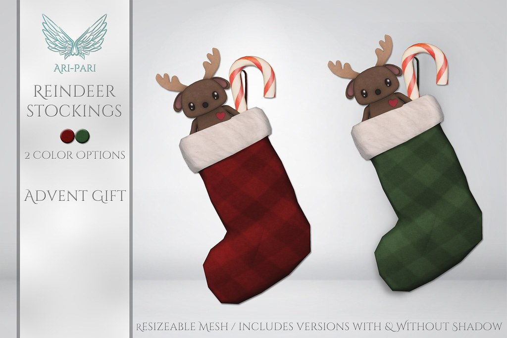 [Ari-Pari] Reindeer Stockings - Advent Gift