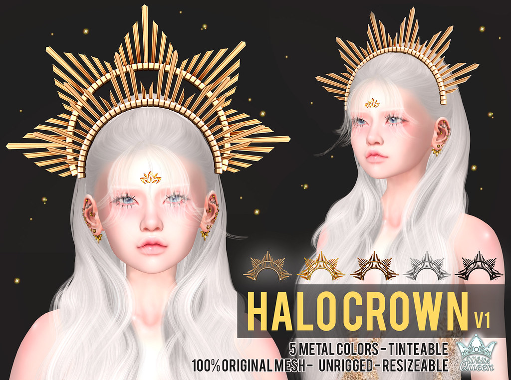 HALO CROWN v1 – WHITE QUEEN