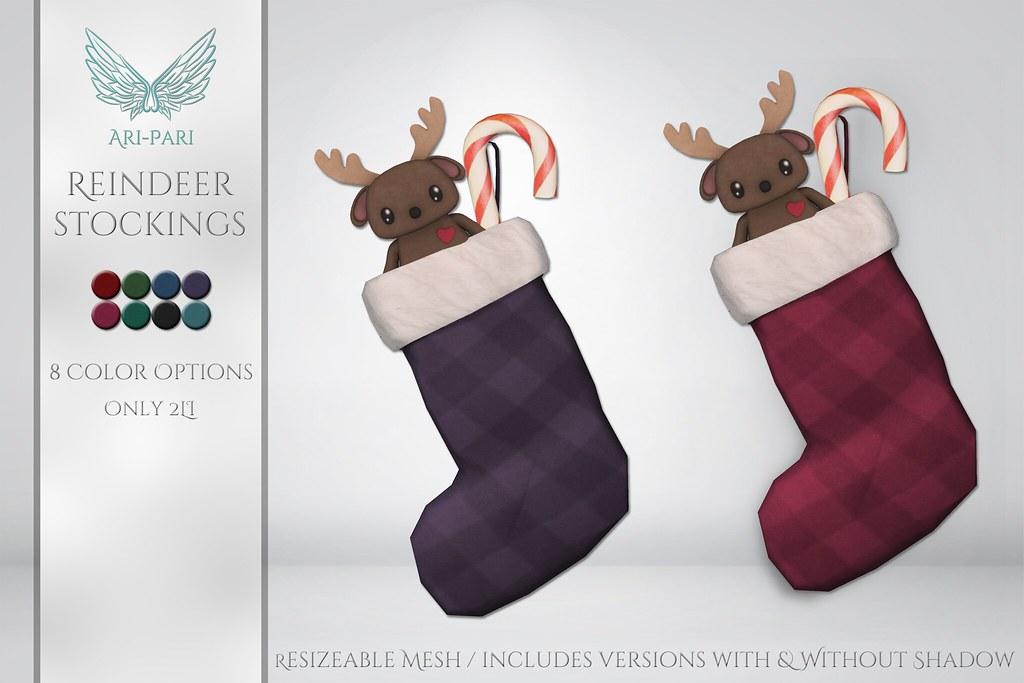 [Ari-Pari] Reindeer Stockings