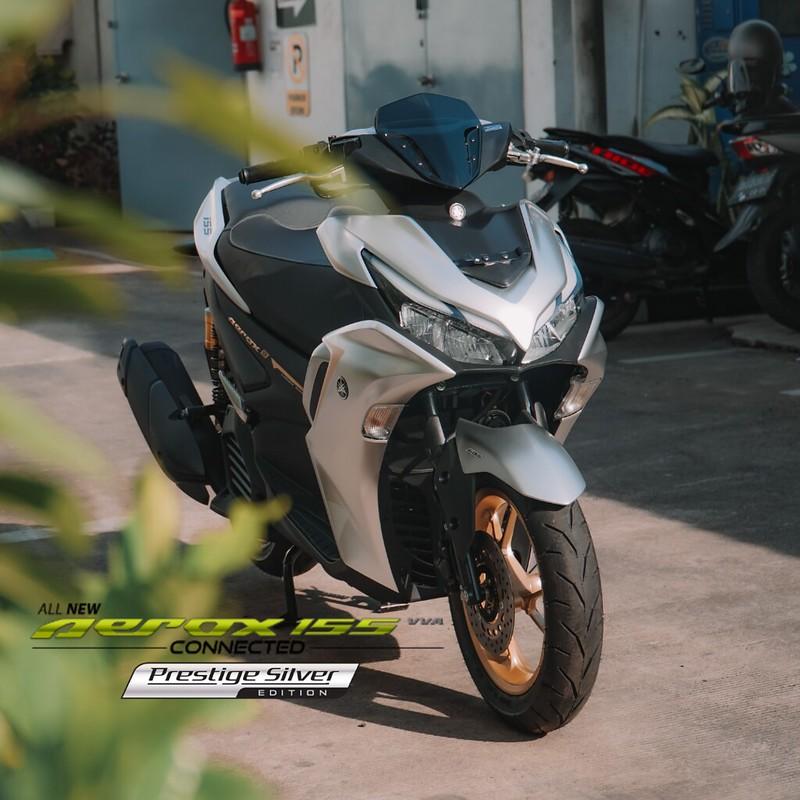All New Aerox 155 Silver