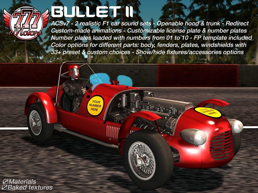 [777] Bullet II - Classic F1 Race Car