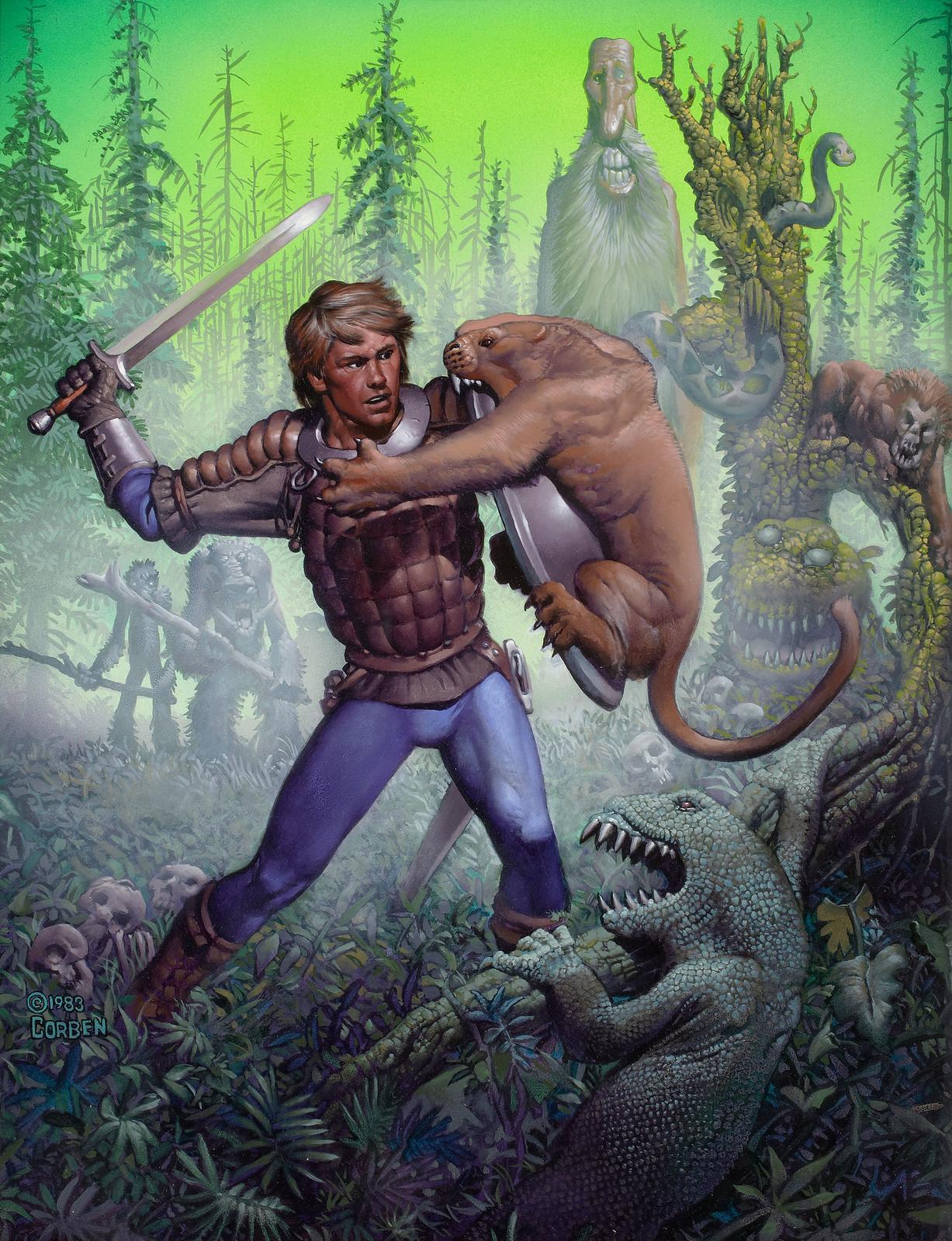 Richard Corben - Forest of Doom, paperback cover, 1983