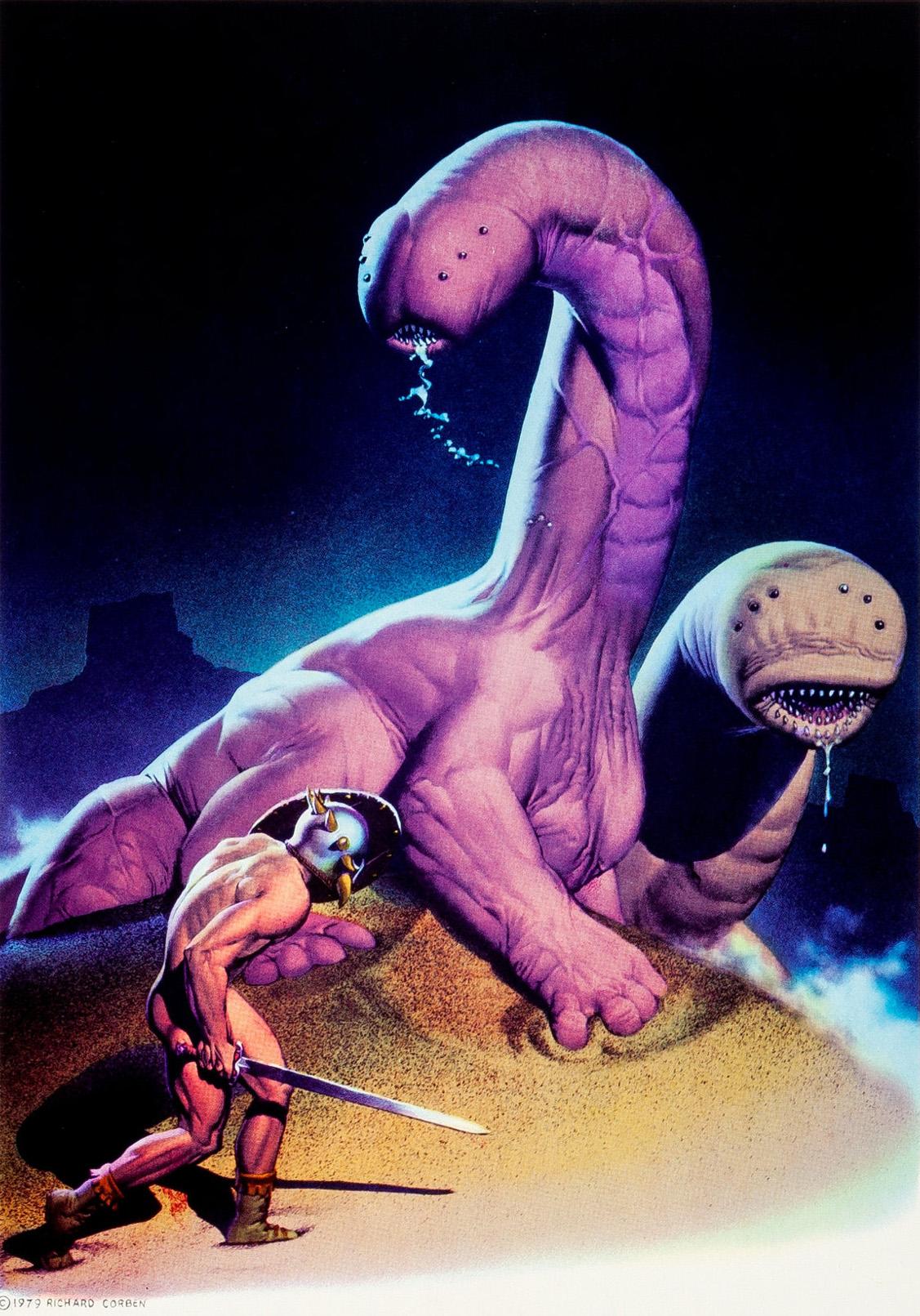 Richard Corben - Scenes from the Magic Planet Portfolio Print, 1979