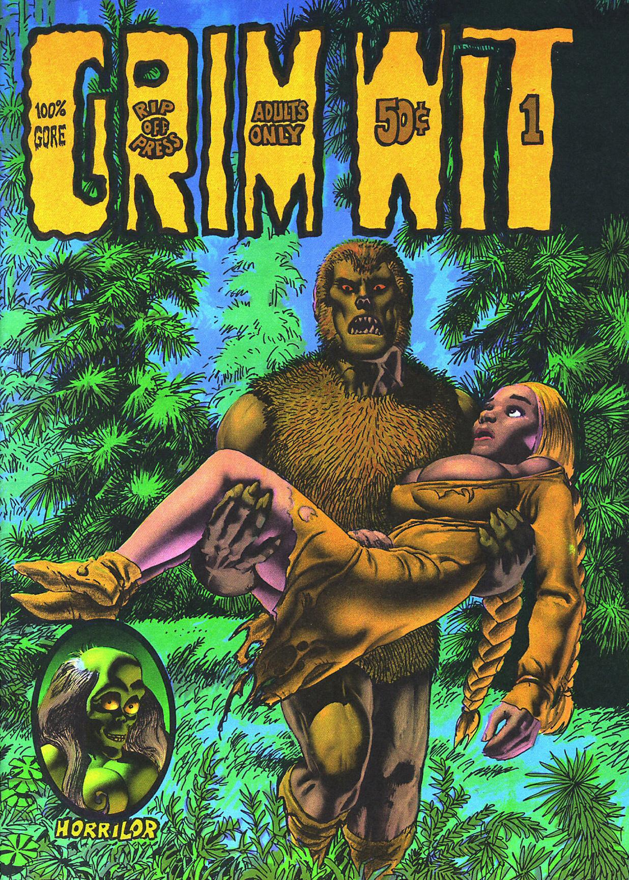 Richard Corben - Grim Wit #1 Cover (Last Gasp, 1972)