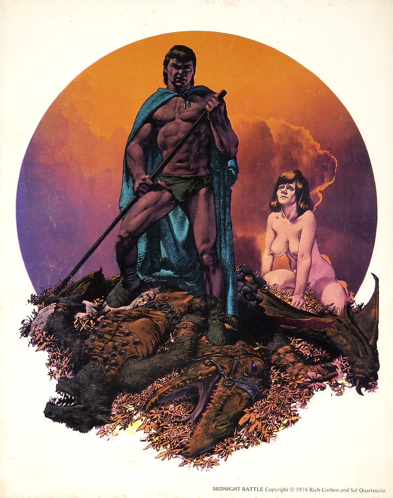 Richard Corben Midnight Battle (Sal Quartuccio, 1974)