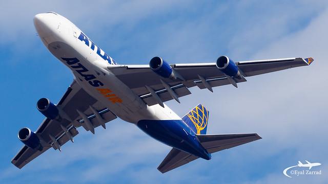 TLV - Atlas Air Boeing 747-400F N487MC