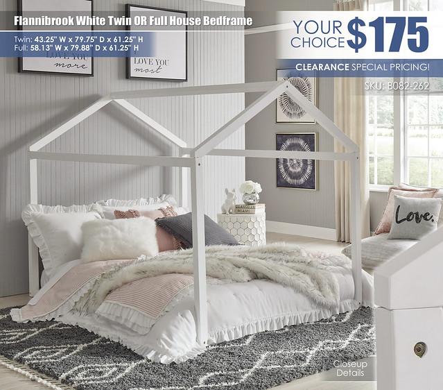 Flannibrook White Full House Bedframe_B082-262-MATTRESS