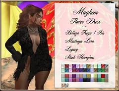 Mayhem Flair Dress Lace Hud AD