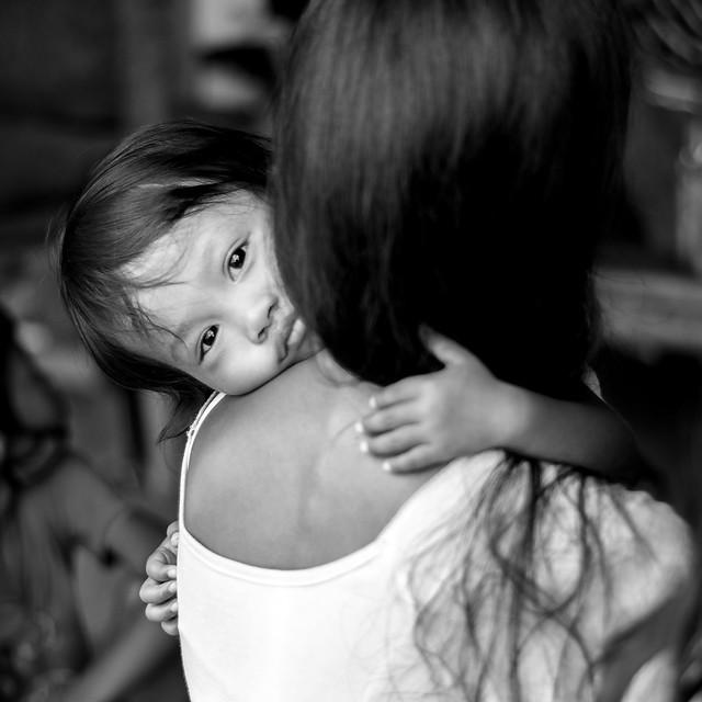 Hugging Mommy