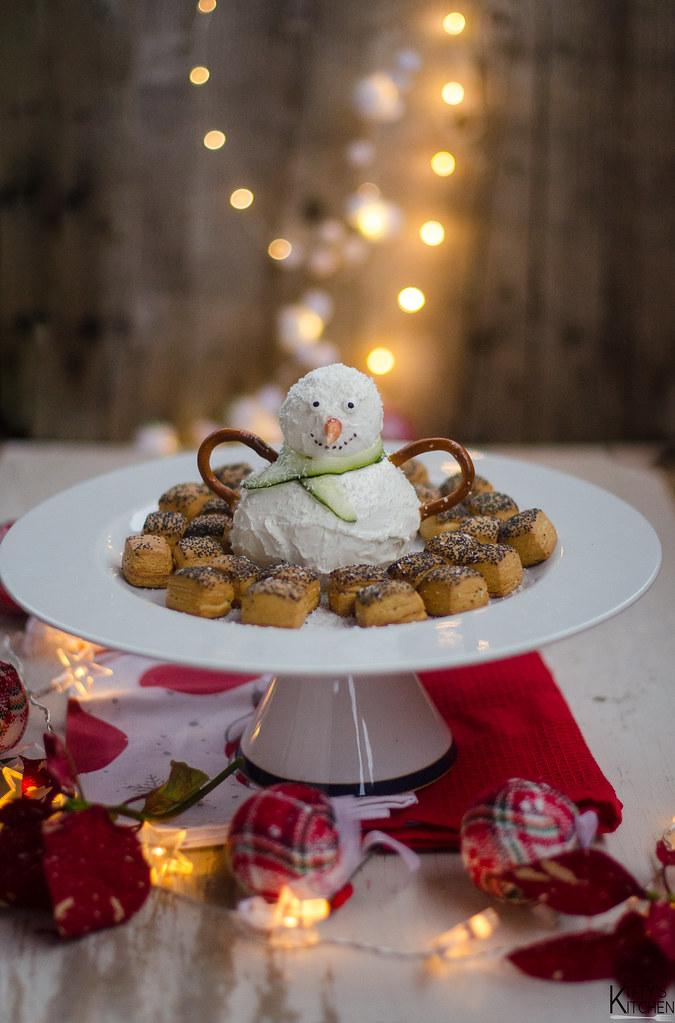 mozzarella snowman