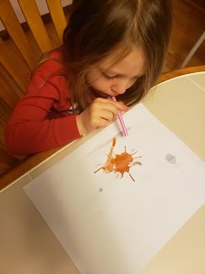 blowing orange